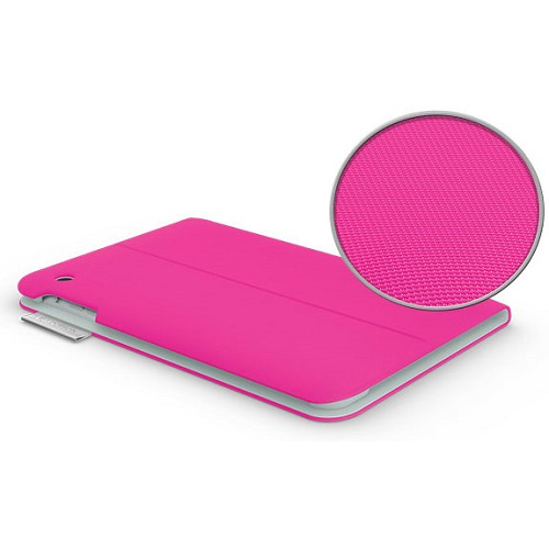 LOGITECH Folio Protective Case for Apple iPad Mini [939-000894] - Fantasy Pink - Casing Tablet / Case